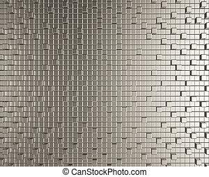 Cubic metallic creative background