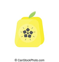 cubic rounded rectangle quince. vector design illustration.