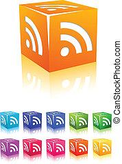 cubic rss icon set