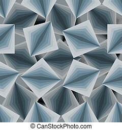 Cubic seamless pattern. 3d background of squares. Texture to fabric.