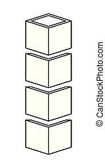 cubic set matrix geometric icons