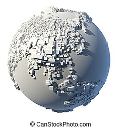 Cubic structure of the planet Earth - The complex structure...