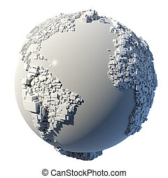 Cubic structure of the planet Earth - The complex structure ...