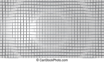 Cubic surface in motion. Loop ready animation of cubes moving wave
