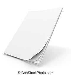 cubierta de libro, 3d, blanco
