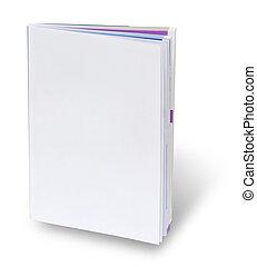 cubierta de libro, página, blanco