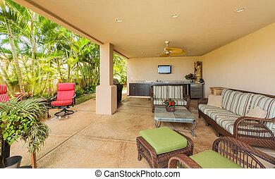 cubierta, mobiliario de patio