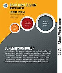cubierta, revista, diseño, template., disposición