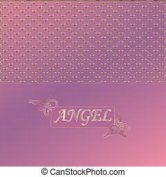 cubierta, rosa, ángel, con, el, inscripti