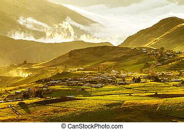 Cubilin Sunset Ecuadorian Andes