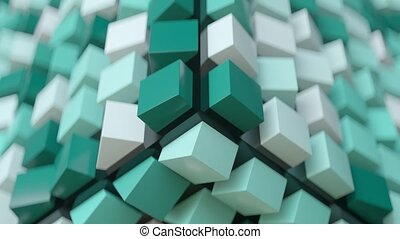 cubique, arrière-plan., résumé