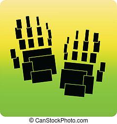 cubique, main