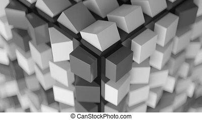 cubique, résumé, arrière-plan.