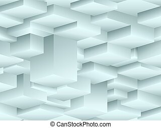 cubismo, modello, isometrico, stile, seamless