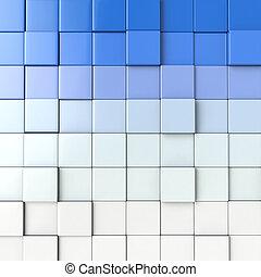 cubo, 3d, fondo, astrazione