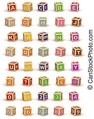 cubo, alfabeto