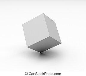 cubo, blanco
