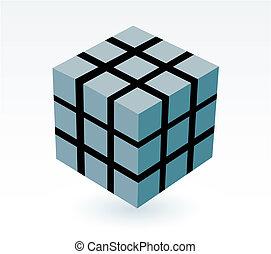 cubo, blocco