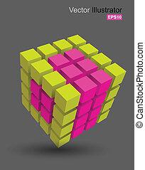 cubo, color