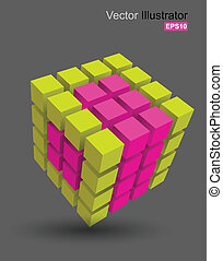 cubo, cor