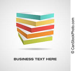 cubo, diseño, concepto