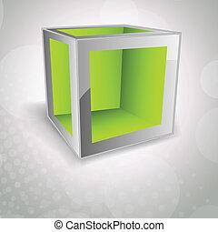 cubo, fundo