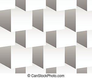 cubo, grayscale, shapes., pattern., repeatable, cúbico, pauta fondo, resumen, mínimo, 3d