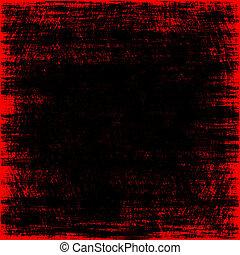 cubo, image., espaço, dentro, gerado, background.digitally, preto vermelho, grungy, abstratos, vazio