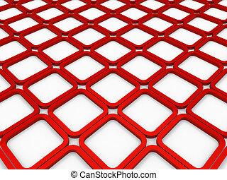cubo, quadrato, sfondo rosso, 3d