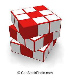 cubo, rompecabezas