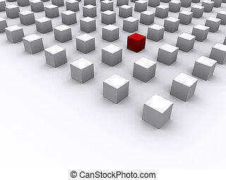 cubo, rosso, eccezionale