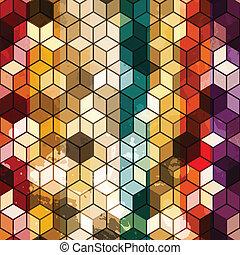 cubo, seamless, multicolored
