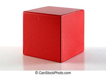 cubo vermelho