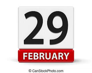 cubos, 29th, febrero, calendario