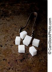 cubos, açúcar