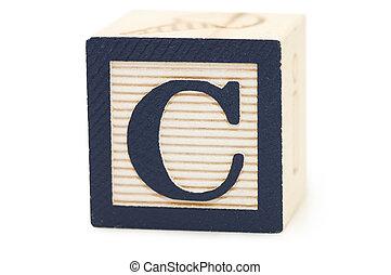 cubos, con, cartas, aislado, blanco