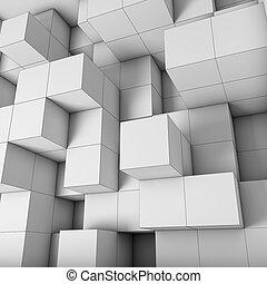 cubos, desenho, estrutural