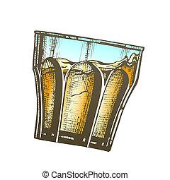 cubos, diseño, whisky americano, hielo, vidrio, color