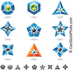 cubos, estrellas, pirámides