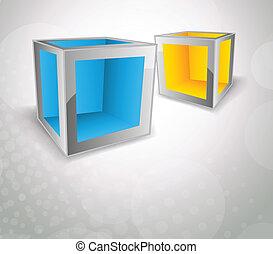 cubos, fundo