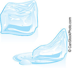 cubos, hielo