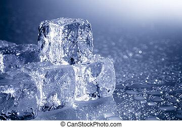 cubos, hielo, copyspace