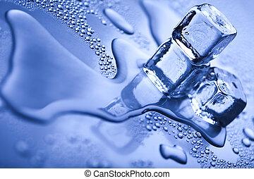 cubos, plano de fondo, hielo