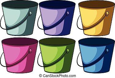 cubos, seis, colorido