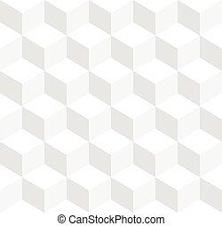 cubos, tricolor, -, repeatable, plano de fondo, geométrico, ...