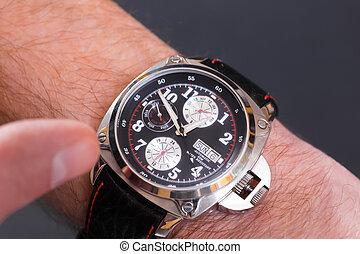 cubrir, reloj de pulsera