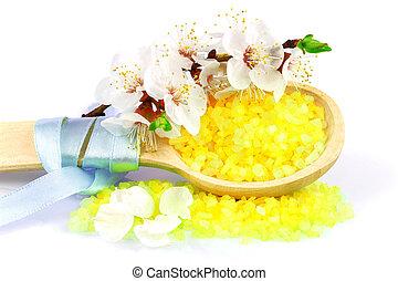 Generi isolato bagno fiori vario backg bianco sale - Bagno con sale grosso ...