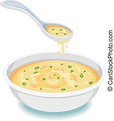 cucchiaio zuppa, ciotola