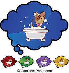 cucciolo, bagno