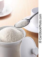 cuchara, de, azúcar